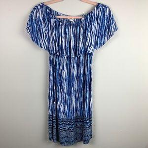 Beach Lunch Lounge Tie Dye Off Shoulder Dress Sz S
